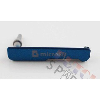 Samsung C115 Galaxy K Zoom Speicherkarten Abdeckung, Blau, AD63-07928C