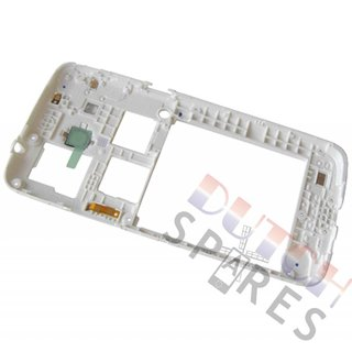 Samsung G386F Galaxy Core 4G Middenbehuizing, Wit, GH98-30926A