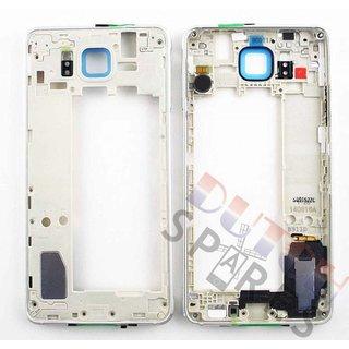 Samsung G850F Galaxy Alpha Middenbehuizing, Silver, GH96-07649A