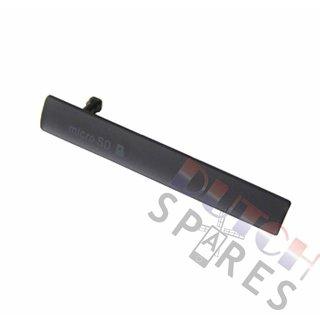 Sony Xperia Z3 Compact USB+MicroSD Cover, Black, 1284-3222