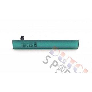 Sony Xperia Z3 Compact USB+MicroSD Cover, Groen, 1284-3483