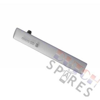 Sony Xperia Z3 Compact USB+MicroSD Abdeckung, Weiß, 1284-3481