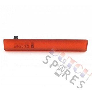 Sony Xperia Z3 Compact USB+MicroSD Cover, Oranje, 1284-3482