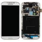 Samsung Galaxy S IV /S4 i9505 Interne Beeldscherm + Touchscreen + Frame Wit GH97-14655A;GH97-14694A 4/3