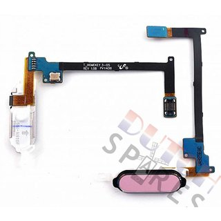 Samsung N910F Galaxy Note 4 Home Button Flex, Roze, GH96-07432D