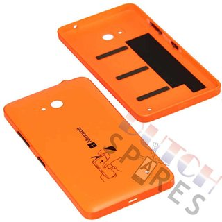 Microsoft Lumia 640 Back Cover, Orange (glossy), 02509P7
