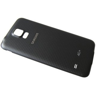Samsung G901F Galaxy S5+ Accudeksel, Zwart, GH98-34385B, Incl. 4G+ logo