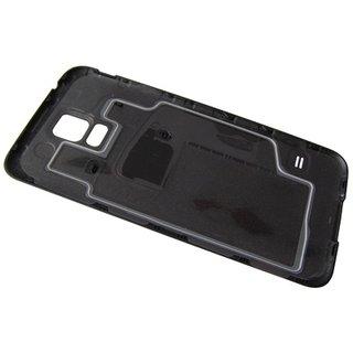 Samsung G901F Galaxy S5+ Akkudeckel , Schwarz, GH98-34385B, Incl. 4G+ logo