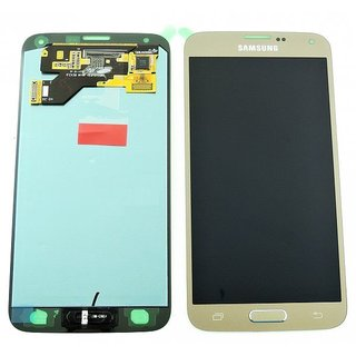 Samsung G903F Galaxy S5 Neo LCD Display Modul, Gold, GH97-17787B