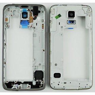 Samsung G903F Galaxy S5 Neo Middenbehuizing, Zwart, GH98-37880A
