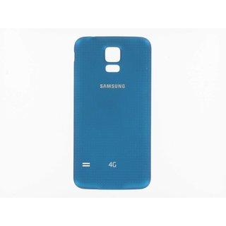 Samsung G901F Galaxy S5+ Akkudeckel , Blau, GH98-34385C, Incl. 4G+ logo