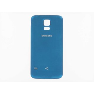 Samsung G901F Galaxy S5+ Battery Cover, Blue, GH98-34385C, Incl. 4G+ logo