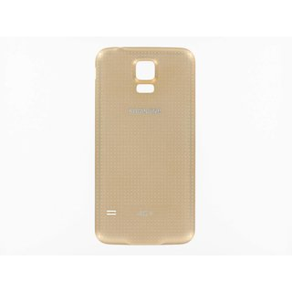 Samsung G901F Galaxy S5+ Battery Cover, Gold, GH98-34385D, Incl. 4G+ logo