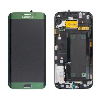 Samsung G925F Galaxy S6 Edge LCD Display Modul, Grün, GH97-17162E