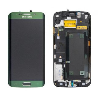 Samsung G925F Galaxy S6 Edge Lcd Display Module, groen, GH97-17162E