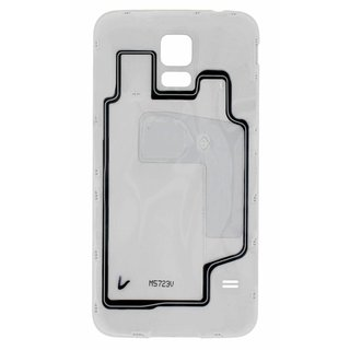 Samsung G901F Galaxy S5+ Battery Cover, White, GH98-34385A, Incl. 4G+ logo