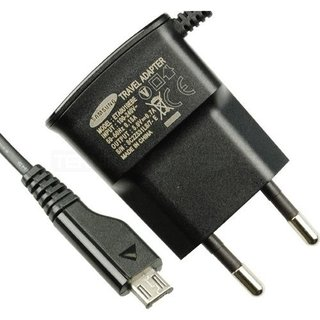 Samsung J100H Galaxy J1 USB-Oplader, Zwart, GH44-02149B, 5.0V - 0.7A, ETA0U10EBE