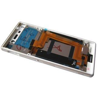 Sony Xperia M4 Aqua E2303 LCD Display Modul, Silber, 124TUL0013A