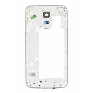 Samsung G903F Galaxy S5 Neo Middenbehuizing, Zilver, GH98-37880C