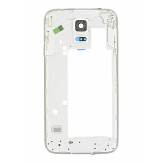 Samsung G903F Galaxy S5 Neo Middle Cover, Silver, GH98-37880C
