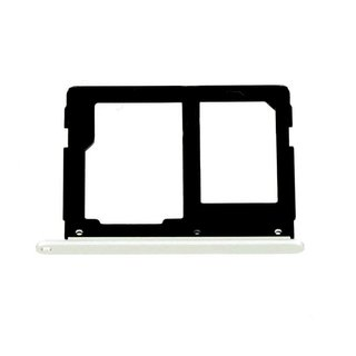 Samsung A310F Galaxy A3 2016 Sim- + Geheugenkaart Cover, Wit, GH98-38665C;GH98-39610C