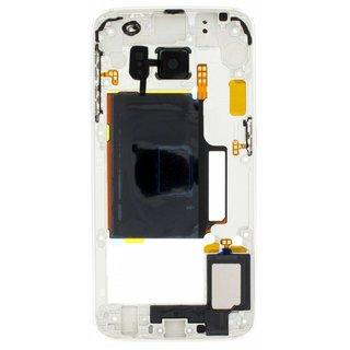 Samsung G925F Galaxy S6 Edge Mittel Gehäuse, Grün, GH96-08376E