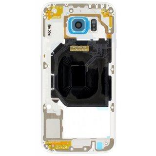Samsung G920F Galaxy S6 Middenbehuizing, Blauw, GH96-08583D
