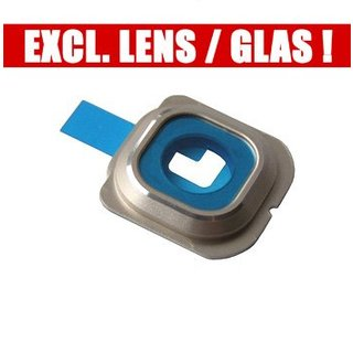 Samsung G925F Galaxy S6 Edge Kamera Ring Blende  , Gold, GH98-35867C, Without Glass/Lens