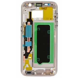 Samsung G930F Galaxy S7 Front Cover Frame, Gold, GH96-09788C