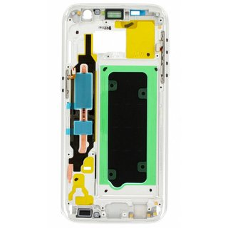 Samsung G930F Galaxy S7 Front Cover Frame, White, GH96-09788D