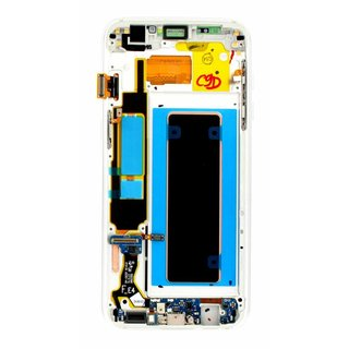 Samsung G935F Galaxy S7 Edge LCD Display Module, Silver, GH97-18533B