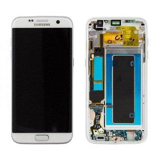 Samsung G935F Galaxy S7 Edge LCD Display Modul, Weiß, GH97-18533D