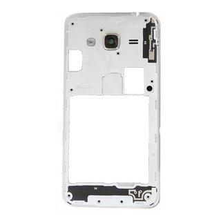 Samsung J320F Galaxy J3 2016 Middenbehuizing, Wit, GH98-39054A