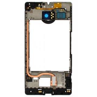 Microsoft Lumia 950 XL Middenbehuizing, Zwart, 00814F6