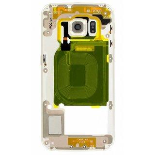 Samsung G925F Galaxy S6 Edge Middenbehuizing, goud, GH96-08376C