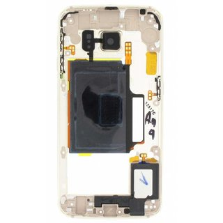 Samsung G925F Galaxy S6 Edge Middle Cover, Gold, GH96-08376C