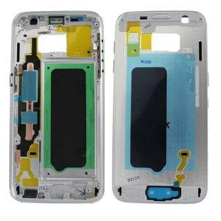 Samsung G930F Galaxy S7 Mittel Gehäuse, Silber, GH96-09788B