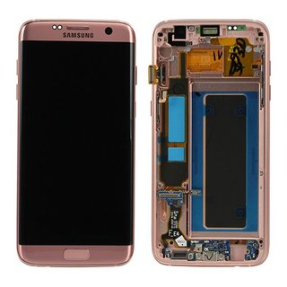 Samsung G935F Galaxy S7 Edge LCD Display Module, Pink Gold, GH97-18533E
