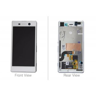 Sony Xperia M5 E5603 LCD Display Module, White, 191HLY0004B-WCS