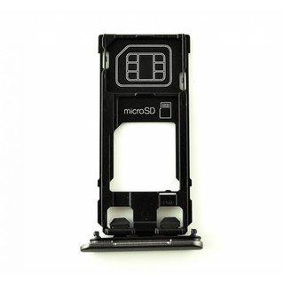 Sony Xperia X F5121 Sim Card Tray Holder, Graphite Black, 1302-4830