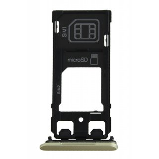 Sony Xperia X Dual F5122 Sim Card Tray Holder, Lime Gold, 1302-4836