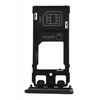 Sony Xperia X Dual F5122 Sim Card Tray Holder, Graphite Black, 1302-4834