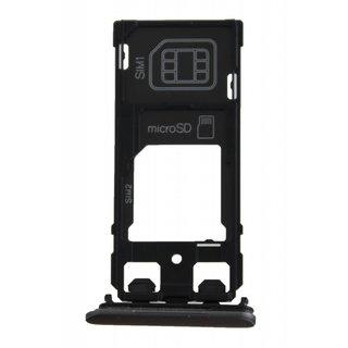 Sony Xperia X Dual F5122 Simkaarthouder, Graphite Black, 1302-4834
