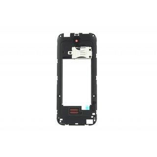 Nokia 225 Middenbehuizing, Zwart, 02507H0, 1 SIM version