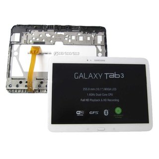 Samsung Galaxy Tab 3 10.1 P5200 Lcd Display Module, Wit, GH97-14819A