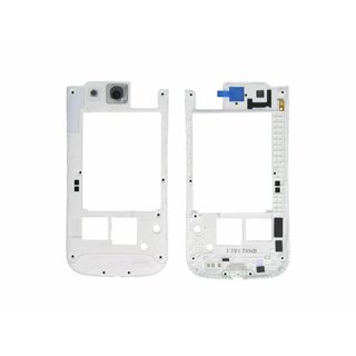 Samsung Galaxy S III i9305 LTE Middenbehuizing Wit GH98-24473C