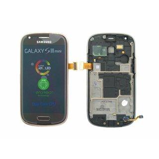 Samsung Galaxy S3 Mini i8190 LCD Display + Touchscreen + Frame Brown GH97-14204E