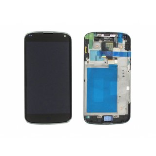 LG Nexus 4 E960 Lcd Display + Touchscreen + Frame Zwart ACQ86270901