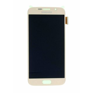 Samsung G920F Galaxy S6 LCD Display Modul, Gold, GH97-17260C