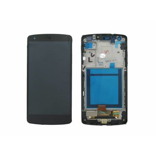 LG Nexus 5 D820 Lcd Display + Touchscreen + Frame Zwart ACQ86661402